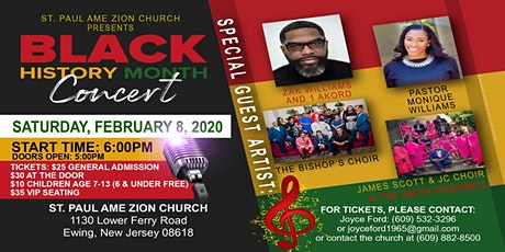 ST. PAUL AME ZION CHURCH presents BLACK HISTORY MONTH CONCERT tickets