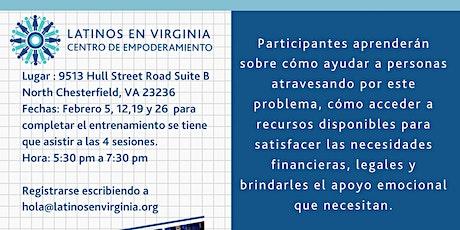 Entrenamiento para defensor comunitarios de víctimas de violencia doméstica FEBRERO 2020 entradas