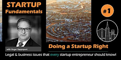 Startup Fundamentals #1/3 - Doing a Startup Right and Avoiding the Most Common Mistakes & Pitfalls tickets