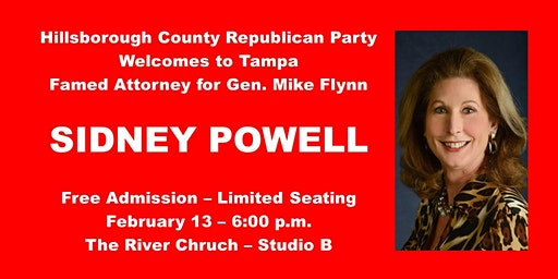 Hillsborough GOP Welcomes Attorney Sidney Powell