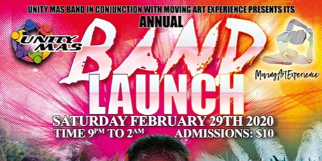 Moving Art Exprience + Unity Mas 2020 Annual Band Launch tickets