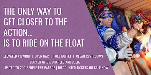The Ultimiate Mardi Gras Parade VIP Viewing Party