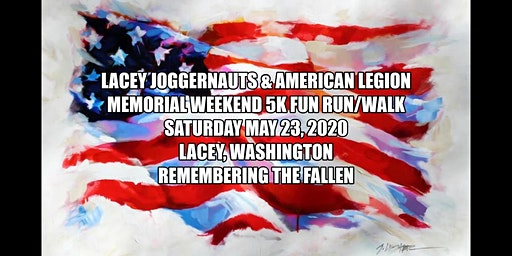 Lacey Joggernauts & American Legion Second Annual 5K Poppy Run & Walk