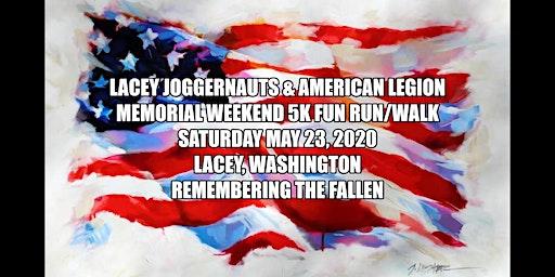 Lacey Joggernauts & American Legion Second Annual 5K Poppy Run & Walk
