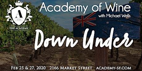 Academy of Wine: Down Under (Night 1) tickets