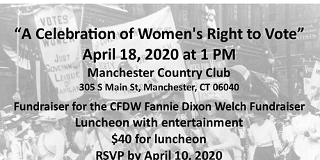"""A Celebration of Women's Right to Vote"" tickets"