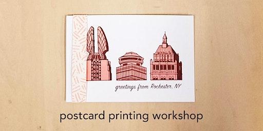 Postcard Printing Workshop