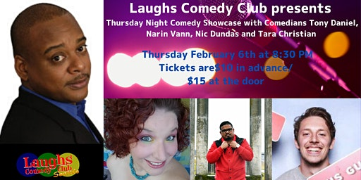 Comedy Showcase with Tony Daniel, Narin Vann, Tara Christian, & Nic Dundas