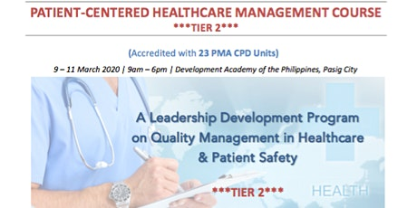 Patient-Centered Healthcare Management (Tier 2) tickets