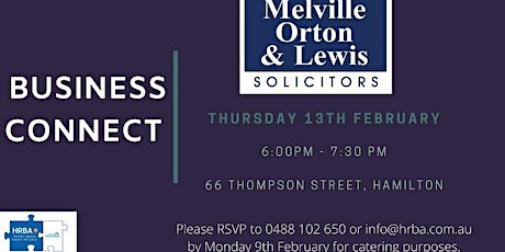 Business Connect @ Melville Orton & Lewis tickets