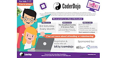 FREE CoderDojo: kids 7-17 learn to code. April, 2020 tickets
