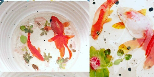 3D Resin Koi Fish Trinket Bowl Adult Workshop