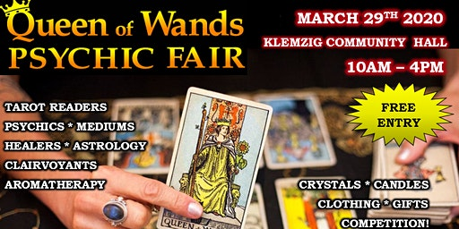 Queen of Wands Psychic Fair At Klemzig 29-03-2020