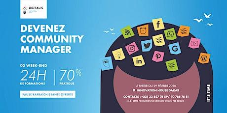 Devenez Community Manager billets