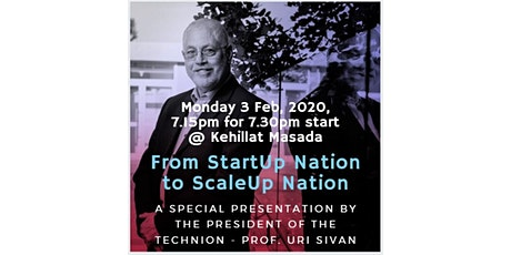 From Startup Nation to Scale-up Nation tickets