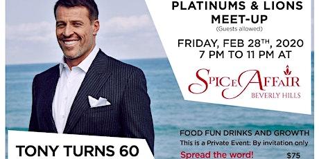 Tony Robbins Platinum Partners Pre Birthday Event Celebration tickets