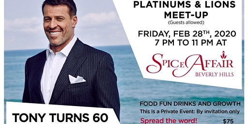 Tony Robbins Platinum Partners Pre Birthday Event Celebration
