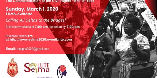 55th Anniversary of Selma to Montgomery - March 2020