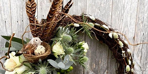 Spring Wreath Workshop- Flower arranging Warwickshire