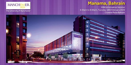 The Manchester Global Part-time MBA Information Evening - Manama tickets