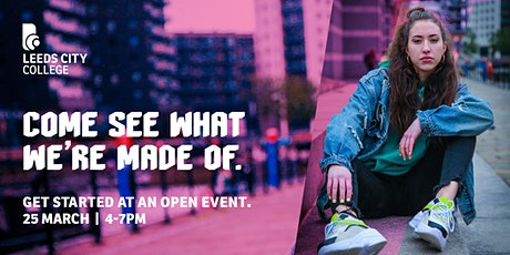 Leeds City College Open Day 25 March tickets