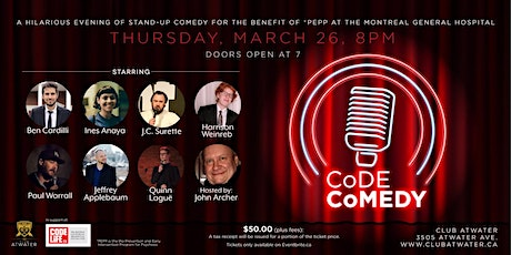 CoDE CoMEDY: A Night of Stand-up Comedy for the Benefit of the MGH Foundation tickets