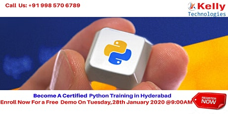 Python Free Demo At Kelly Technologies On Tuesday 28th Jan@9:00AM, In Hyd tickets
