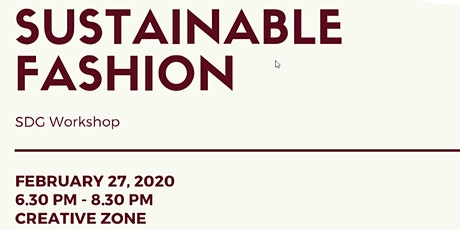 SUSTAINABLE FASHION - SDG Workshop tickets