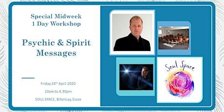 Special WeekDay 1 Day Workshop -  Psychic & Spirit Messages tickets