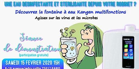 Une eau désinfectante et stérilisante depuis votre robinet ? Découvrez la fontaine à eau Kangen multifonctions - Samedi 15 février 2020 Paris 15H billets
