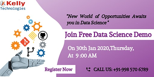 Free Data Science Demo in Hyderabad scheduled On Thursday 30th Jan 2020, 9