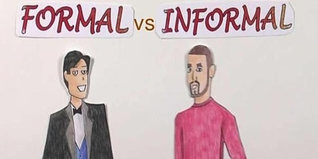 Formal Vs Informal Language biglietti