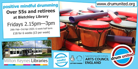 55s+ & retirees @ Bletchley library, Fridays 2.15-3pm, 28th Feb - 3rd Apr tickets