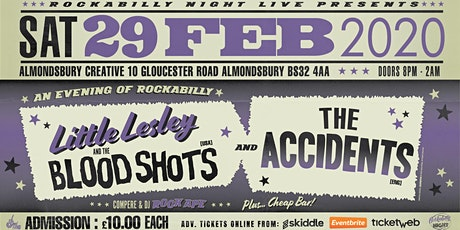 Little Lesley and The Bloodshots + The Accidents - With DJ Rock Ape tickets