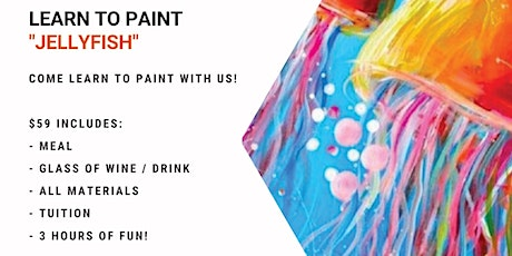 Grab a glass of wine and learn how to paint 'Jellyfish'! tickets