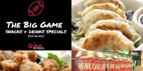 The Big Game Snacks and Drink Special tickets