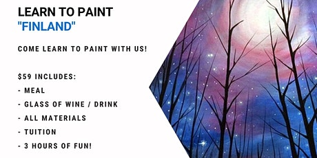 Grab a glass of wine and learn how to paint 'Finland'! tickets