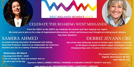 Celebrate the Roaring West Midlands for International Women's Day tickets