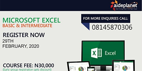 MS EXCEL - BASIC & INTERMEDIATE tickets