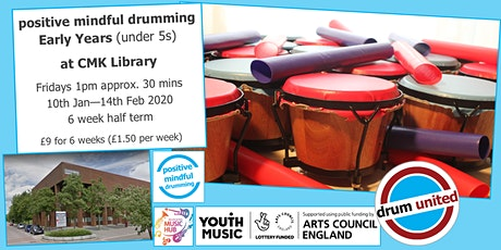 Early Years drumjam @ MK Central Library, Fridays 1pm, 31st Jan for 3 weeks tickets