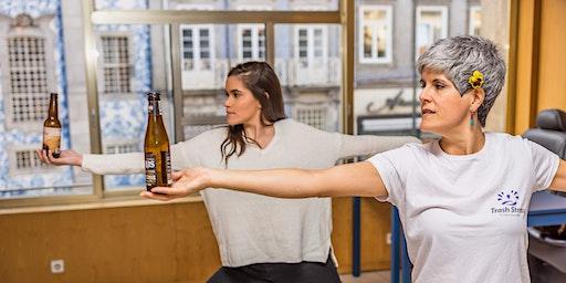 Yoga da Cerveja com Azulejos Tradicionais