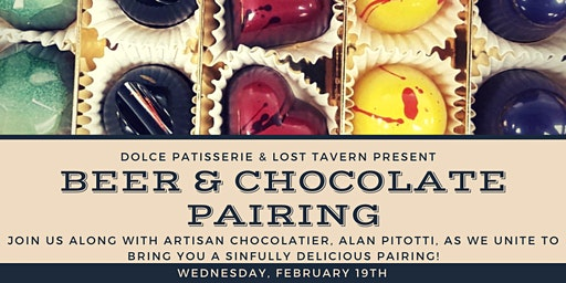 Lost Tavern Brewing & Dolce Patisserie Chocolate & Beer Pairing