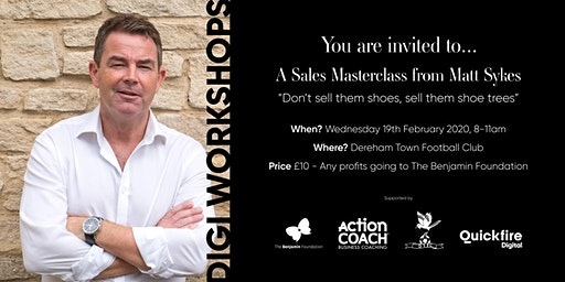 Digi Workshops: Don't sell them shoes, sell them shoe trees with Matt Sykes