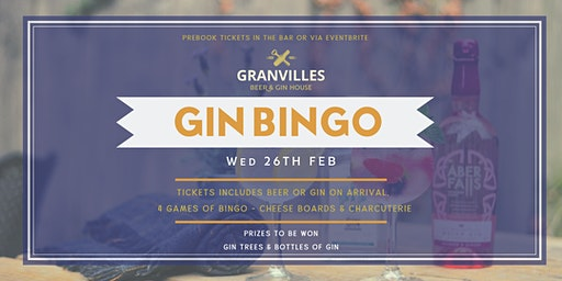 GRANVILLES - MONTHLY BINGO! (GINGO!) 26th FEB, 2020