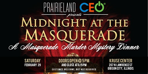 """Midnight at the Masquerade"" Murder Mystery Dinner"