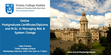 Learn about TCD's Online Cert/Dip/M.Sc. in Managing Risk & System Change tickets