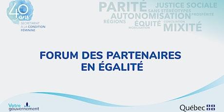 Forum des partenaires en égalité billets