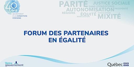 Forum des partenaires en égalité