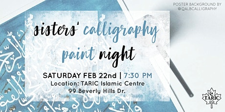 Sisters' Calligraphy Paint Night tickets