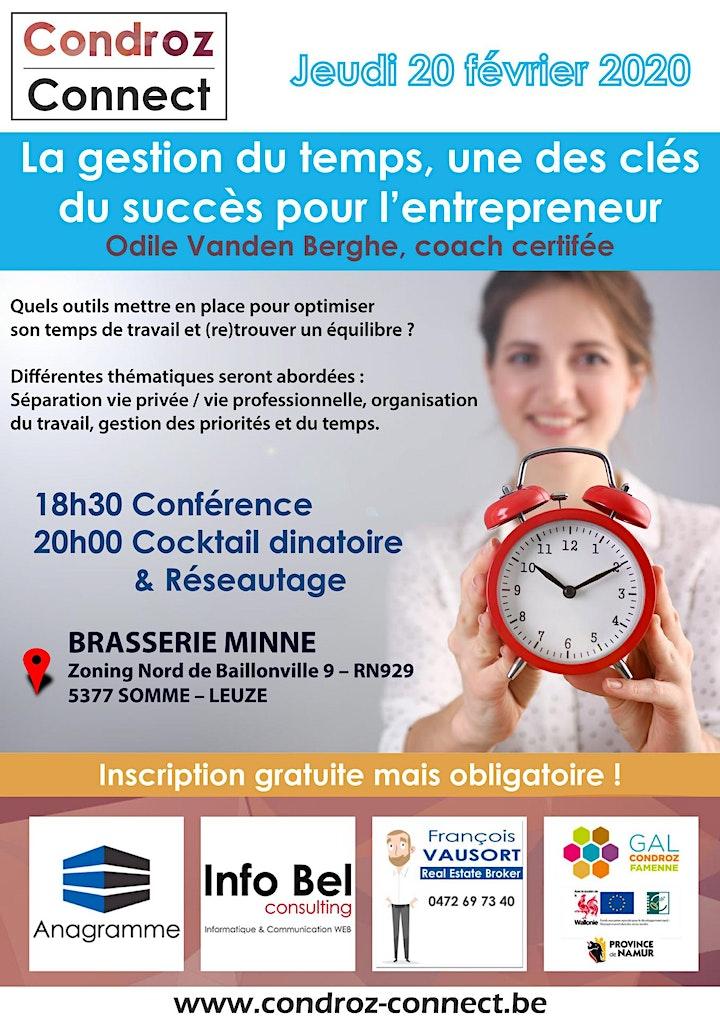 Image pour Condroz Connect - La gestion du temps, une des clés du succès pour l'entr..